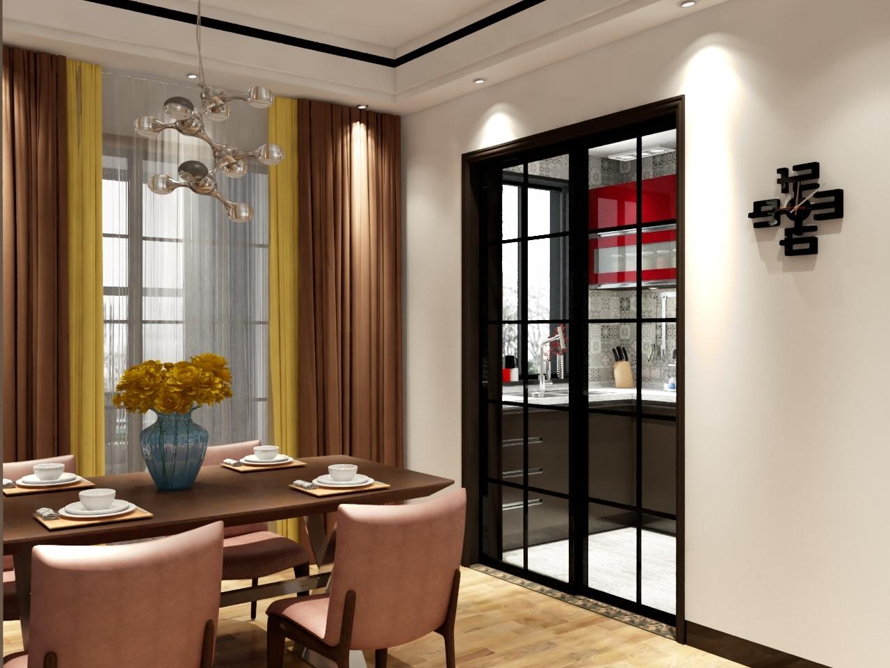 混搭 三居 80后 餐厅图片来自南昌楷模家居生活馆在万科地铁138平现代简约的分享