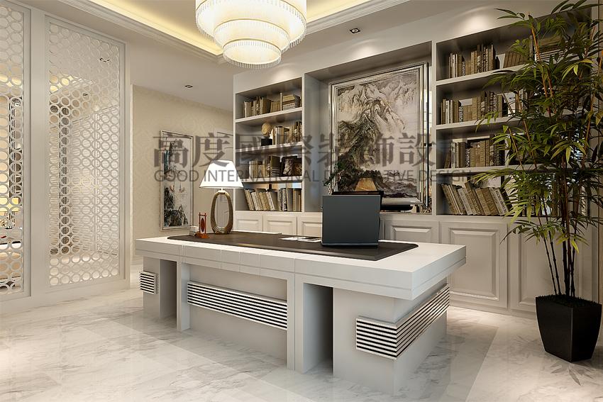 简约 三居 80后 书房图片来自天津高度国际小静在天津装饰设计~简欧风格的分享
