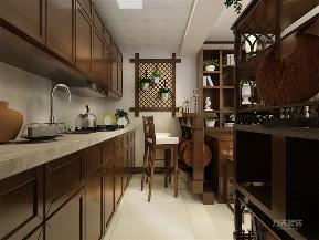 中式 新中式 二居 收纳 小资 厨房图片来自阳光力天装饰在力天装饰-金友花园-79㎡-中式的分享