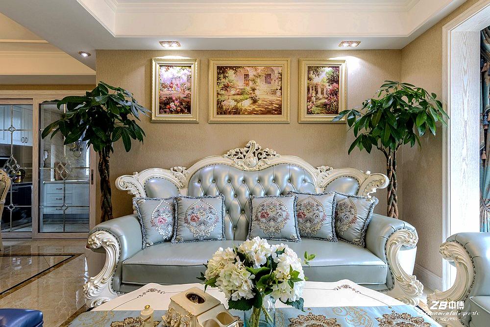 欧式 三居 白领 收纳 小资 中博装饰 客厅图片来自中博装饰在华瑞晴庐110方欧式舒适居家的分享