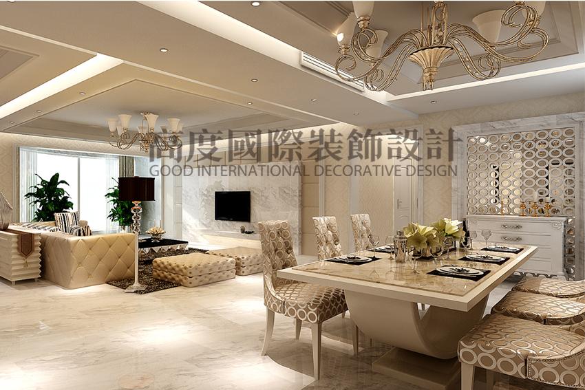 简约 三居 80后 餐厅图片来自天津高度国际小静在天津装饰设计~简欧风格的分享