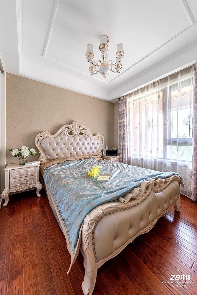 欧式 三居 白领 收纳 小资 中博装饰 卧室图片来自中博装饰在华瑞晴庐110方欧式舒适居家的分享
