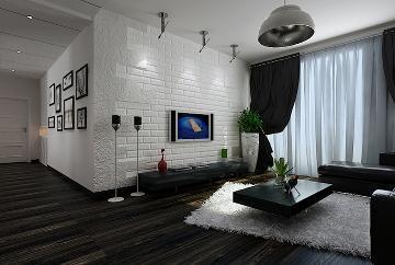 101㎡后现代风格二居室