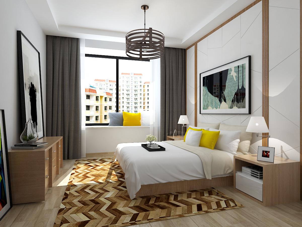 简约 三居 80后 小资 卧室图片来自石家庄大业美家装饰在150平现代简约风格的分享