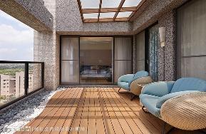 跃层 新古典 四居 阳台图片来自幸福空间在音符飘扬 215平现代古典况味的分享