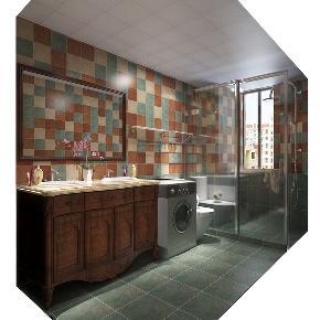 美式 三居 白领 收纳 80后 小资 卫生间 卫生间图片来自石家庄大业美家装饰在160平米-北部时光美式风格的分享