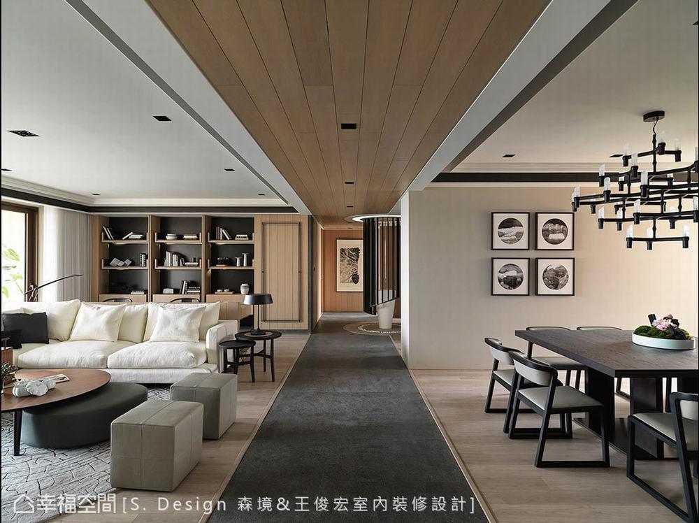 四居 大户型 现代 客厅图片来自幸福空间在福田旅居 231平敞心驿站的分享