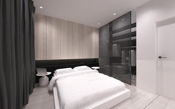 简约 二居 小资 卧室图片来自别墅设计师杨洋在极简主义的灵感设计的分享