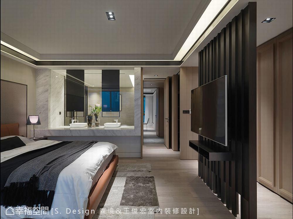 四居 大户型 现代 卧室图片来自幸福空间在福田旅居 231平敞心驿站的分享