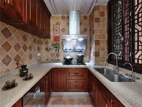 中式 新中式 三居 小资 旧房改造 收纳 厨房图片来自高度国际姚吉智在149平米中式三居尽显东方古韵的分享