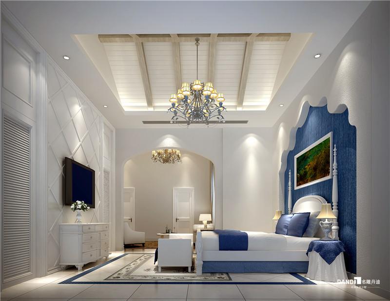 别墅 地中海 卧室图片来自名雕丹迪在观澜高尔夫双拼地中海装修的分享