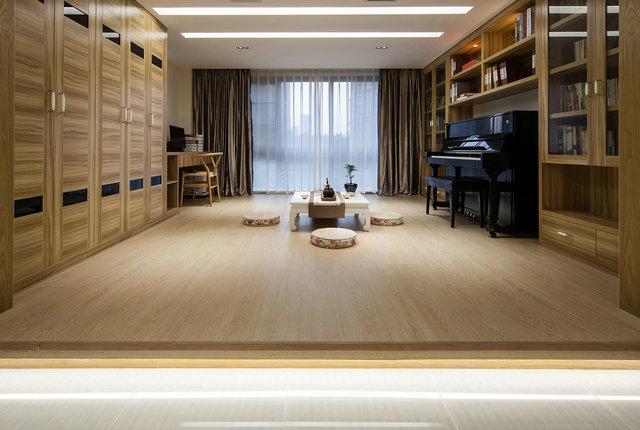 简约 三居 小资 新中式 书房图片来自游小华在新中式---禅意《清风韵》的分享
