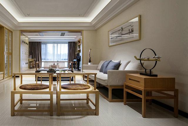 简约 三居 小资 新中式 新中式客厅 客厅图片来自游小华在新中式---禅意《清风韵》的分享