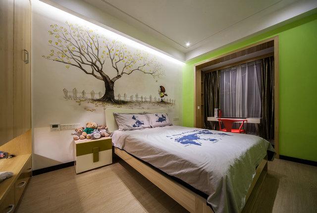 简约 三居 小资 新中式 小孩房 卧室图片来自游小华在新中式---禅意《清风韵》的分享