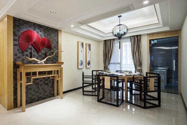 简约 三居 小资 新中式 餐厅图片来自游小华在新中式---禅意《清风韵》的分享