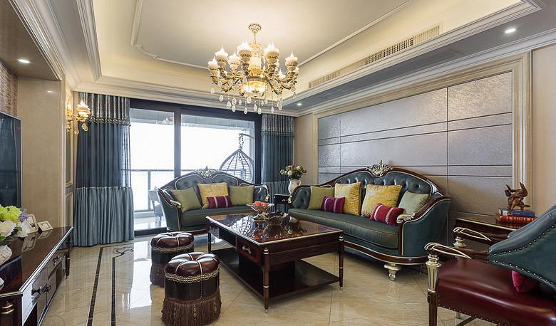 客厅图片来自家装大管家在130平欧式混搭3居 演绎舒适人居的分享