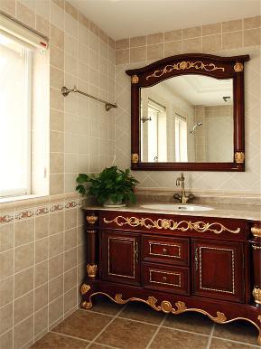欧式 新古典 别墅 小资 80后 大户型 高帅富 卫生间图片来自高度国际姚吉智在200㎡欧式古典诠释朦胧浪漫之美的分享