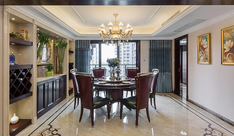 餐厅图片来自家装大管家在130平欧式混搭3居 演绎舒适人居的分享