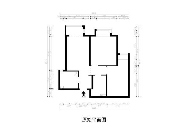 此户型的面积不是很大,客餐厅在一个空间内,而且面积刚好够摆放沙发和餐桌。通过了解客户的生活习惯,和房屋的建筑构造,在方案上合理的设计空间划分和功能应用。