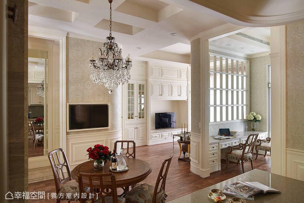 古典 三居 餐厅图片来自幸福空间在敞朗新貌 揭示132平古典悠扬气场的分享