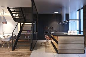 简约 别墅 小资 收纳 楼梯图片来自别墅设计师杨洋在简约舒适纹理空间设计的分享