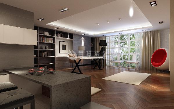 明亮素雅的书房和茶桌