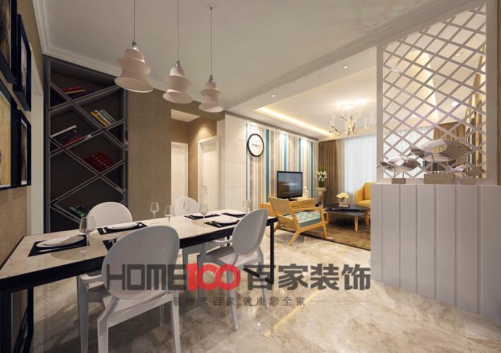 二居 客厅 餐厅图片来自百家装饰小西在奉天九里90平后现代风格的分享