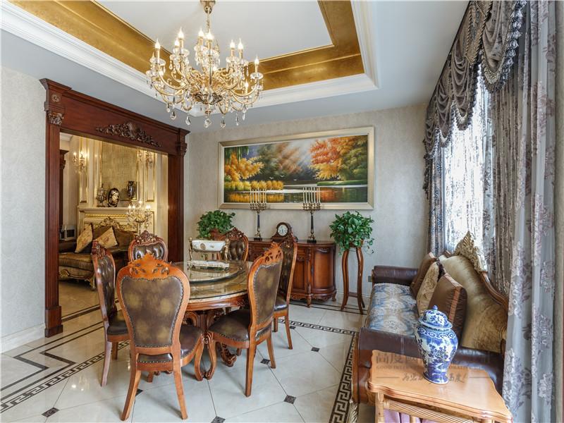 欧式 混搭 别墅 高帅富 大户型 白富美 餐厅图片来自高度国际姚吉智在中海九号公馆580㎡第一眼就惊艳的分享