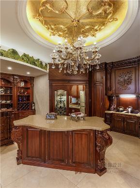 欧式 混搭 别墅 高帅富 大户型 白富美 厨房图片来自高度国际姚吉智在中海九号公馆580㎡第一眼就惊艳的分享