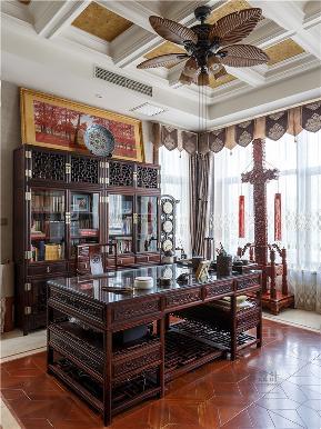欧式 混搭 别墅 高帅富 大户型 白富美 书房图片来自高度国际姚吉智在中海九号公馆580㎡第一眼就惊艳的分享