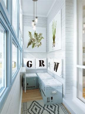 简约 欧式 田园 旧房改造 80后 小资 二居 混搭 阳台图片来自今朝装饰小张在45平米小户型创意收纳的分享