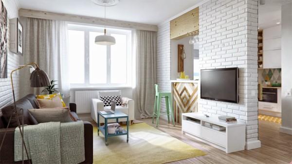 简约 欧式 田园 旧房改造 80后 小资 二居 混搭 客厅图片来自今朝装饰小张在45平米小户型创意收纳的分享