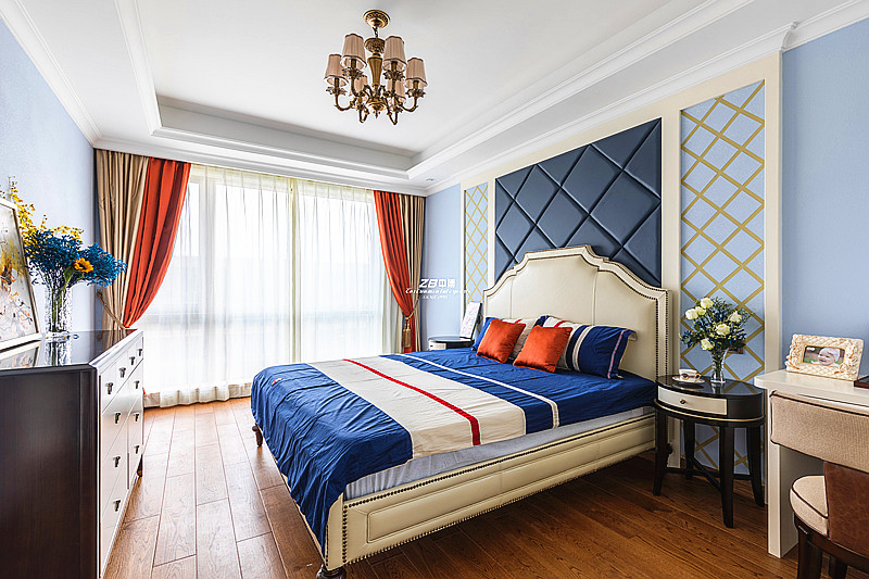 欧式 白领 收纳 80后 小资 四房 卧室图片来自中博装饰在翡翠城176方欧式新古典的分享