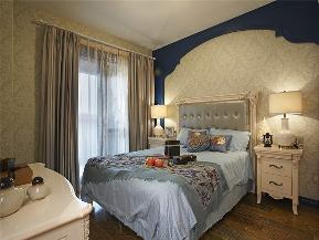 地中海 三居 白领 80后 小资 大户型 卧室图片来自高度国际姚吉智在140平米清新唯美地中海三居室的分享