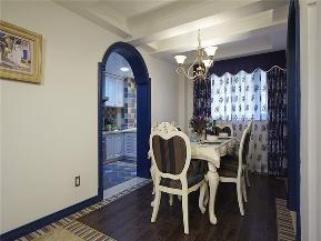 地中海 三居 白领 80后 小资 大户型 餐厅图片来自高度国际姚吉智在140平米清新唯美地中海三居室的分享
