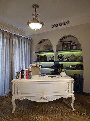 地中海 三居 白领 80后 小资 大户型 书房图片来自高度国际姚吉智在140平米清新唯美地中海三居室的分享