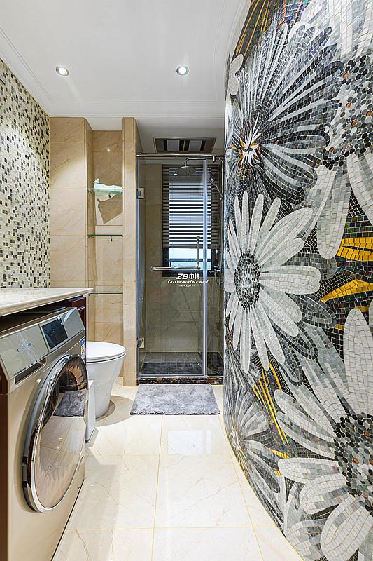 欧式 白领 收纳 80后 小资 四房 卫生间图片来自中博装饰在翡翠城176方欧式新古典的分享