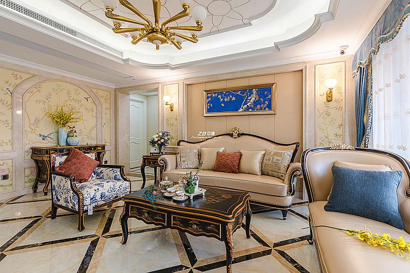 欧式 白领 收纳 80后 小资 四房 客厅图片来自中博装饰在翡翠城176方欧式新古典的分享