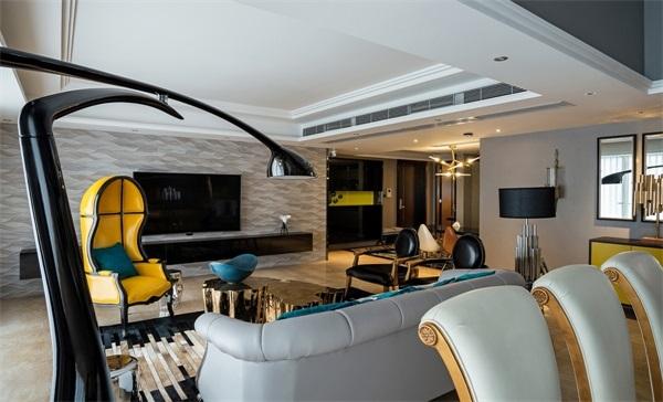 别墅 混搭 小资 餐厅 卧室 客厅图片来自翼森设计在公园壹号的分享