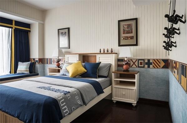 别墅 混搭 小资 三居 卧室图片来自翼森设计在公园壹号的分享