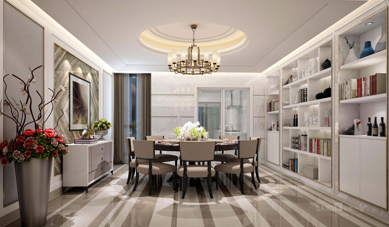 简约 别墅 客厅图片来自名雕丹迪在纯水岸现代风格别墅装修的分享