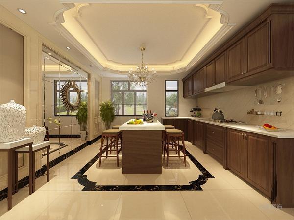 厨房采用开放式的手法,在餐厅的墙面采用镜面效果,使整个空间得到了拉伸,更加的富有浪漫色彩。卧室采用实木地板,触感舒适。