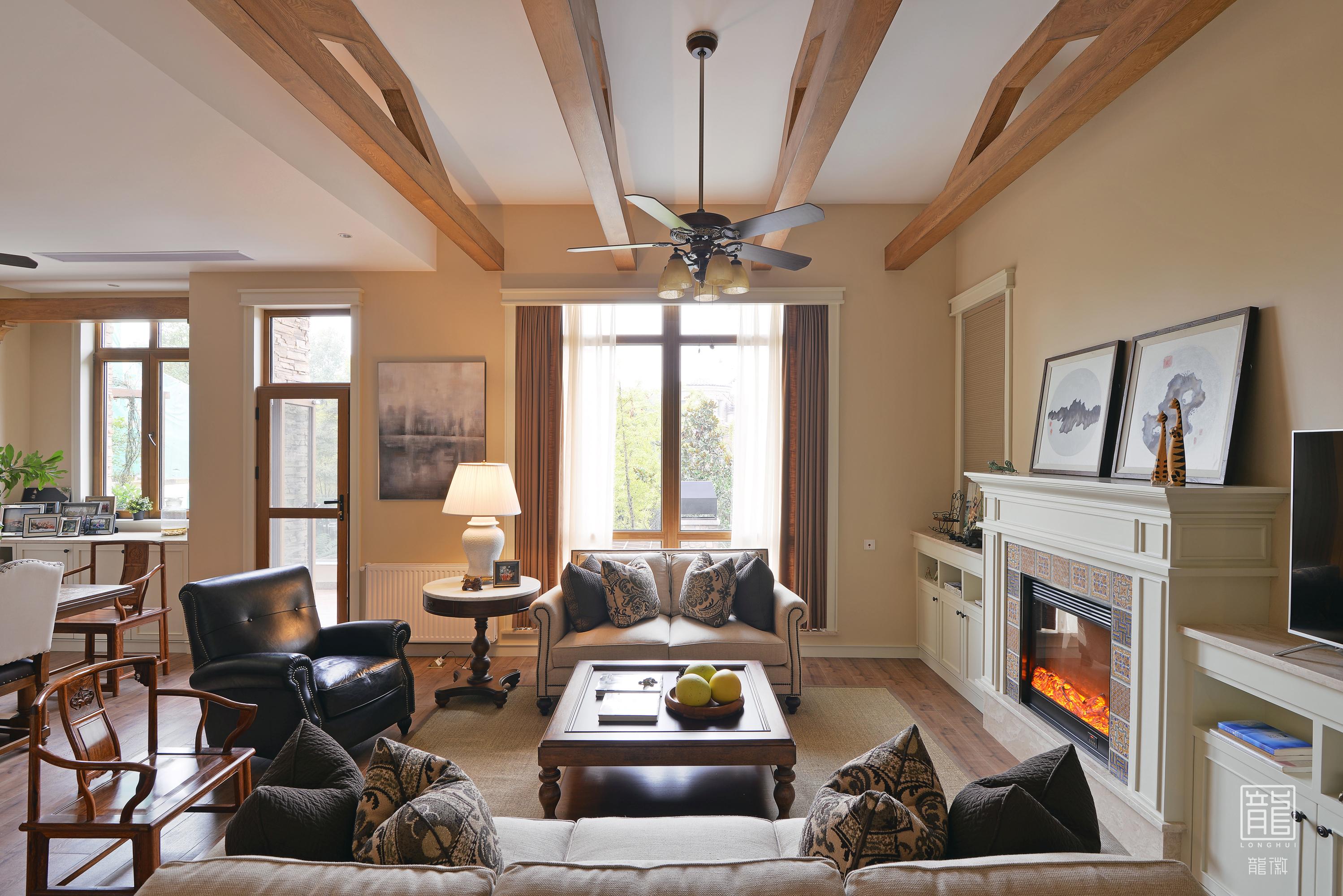 别墅 休闲 美式 心灵安放 客厅图片来自龙徽设计在安放的分享