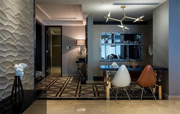 别墅 混搭 小资 三居 餐厅 厨房 客厅图片来自翼森设计在公园壹号的分享