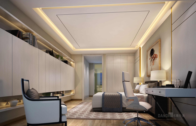 简约 别墅 卧室图片来自名雕丹迪在纯水岸现代风格别墅装修的分享