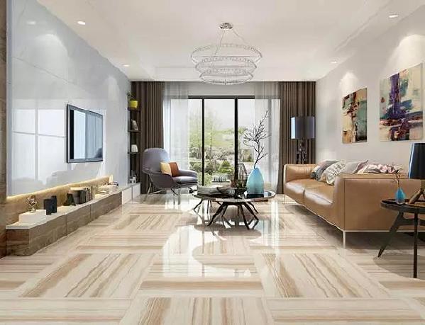 全称是仿大理石瓷砖。优质大理石瓷砖的抛光面具有镜面一样的光泽,能清晰映出景物,提升空间明亮度。浅色大理石瓷砖让空间显得洁净,深色瓷砖衬托出立体感。