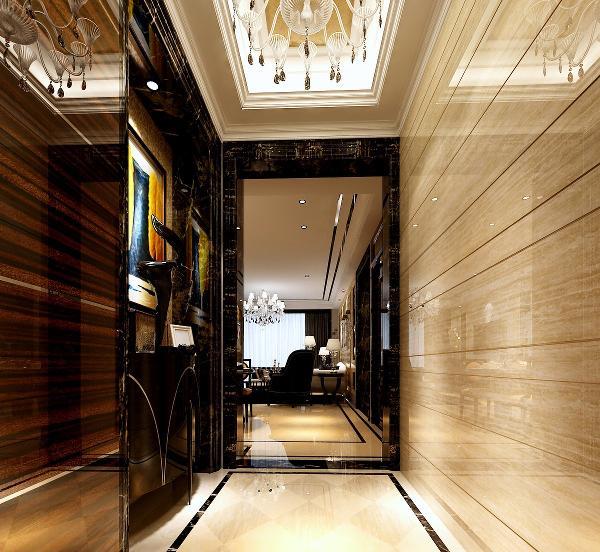 这个空间能本来进门左手是厨房,但是为了门厅更大气,改变了户型,把厨房门口开在了餐厅方向。这样厨房空间也更大,距离餐桌也更近。