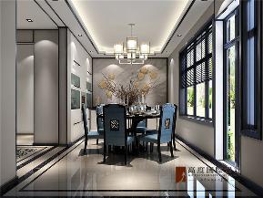中式 新中式 别墅 小资 大户型 高帅富 白富美 长阳半岛 餐厅图片来自高度国际姚吉智在长阳半岛300㎡新中式禅意东方的分享