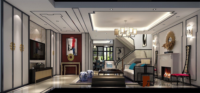 中式 新中式 别墅 小资 大户型 高帅富 白富美 长阳半岛 客厅图片来自高度国际姚吉智在长阳半岛300㎡新中式禅意东方的分享