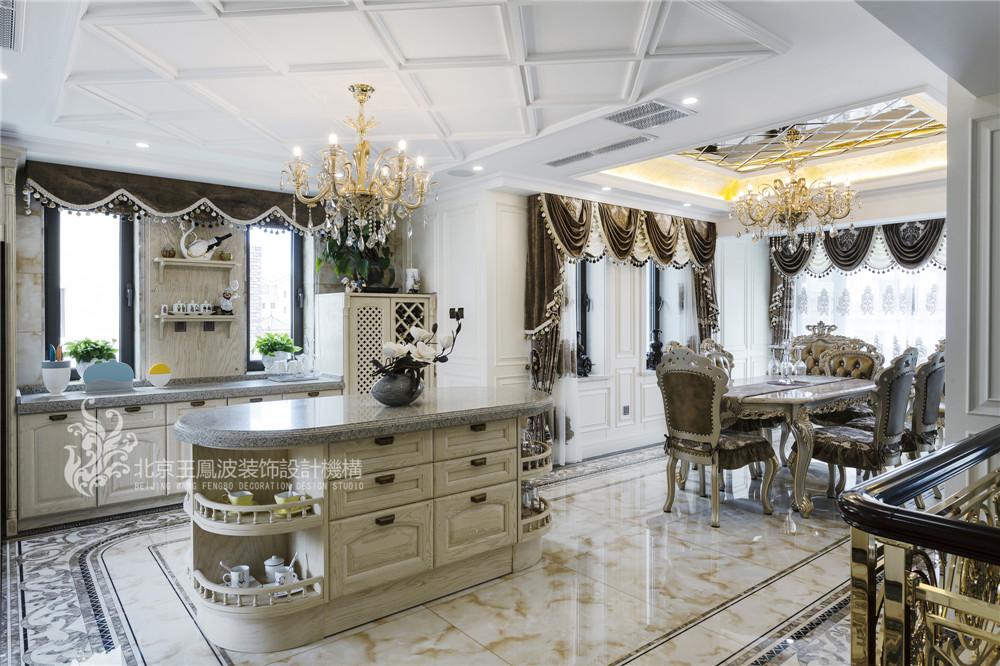 乌兰浩特碧 欧式别墅设 470平 三居 别墅 欧式 厨房图片来自王凤波设计机构在乌兰浩特碧桂园二欧式别墅设计的分享